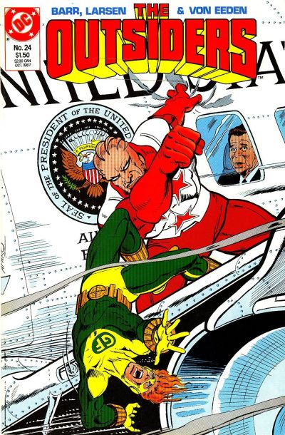 Cover for The Outsiders (DC, 1985 series) #24