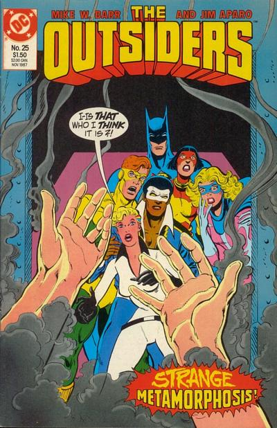 Cover for The Outsiders (DC, 1985 series) #25