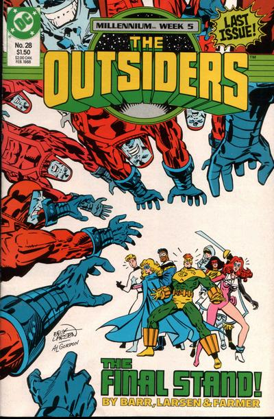 Cover for The Outsiders (DC, 1985 series) #28