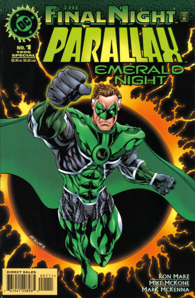 Cover for Parallax: Emerald Night (DC, 1996 series) #1