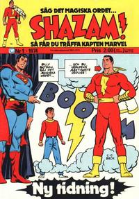 Cover Thumbnail for Shazam! (Williams Förlags AB, 1974 series) #1/1974