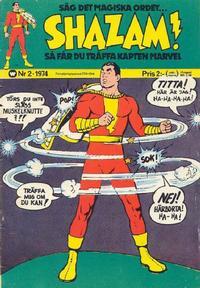 Cover Thumbnail for Shazam! (Williams Förlags AB, 1974 series) #2/1974