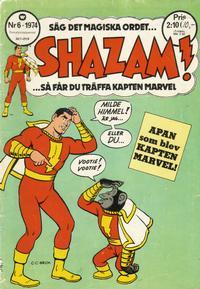 Cover Thumbnail for Shazam! (Williams Förlags AB, 1974 series) #6/1974