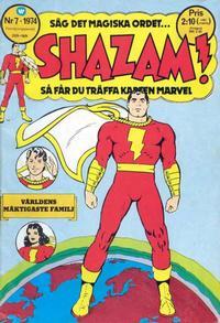 Cover Thumbnail for Shazam! (Williams Förlags AB, 1974 series) #7/1974