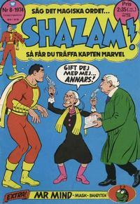 Cover Thumbnail for Shazam! (Williams Förlags AB, 1974 series) #8/1974