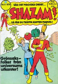Cover Thumbnail for Shazam! (Williams Förlags AB, 1974 series) #9/1974