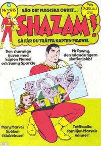 Cover Thumbnail for Shazam! (Williams Förlags AB, 1974 series) #1/1975