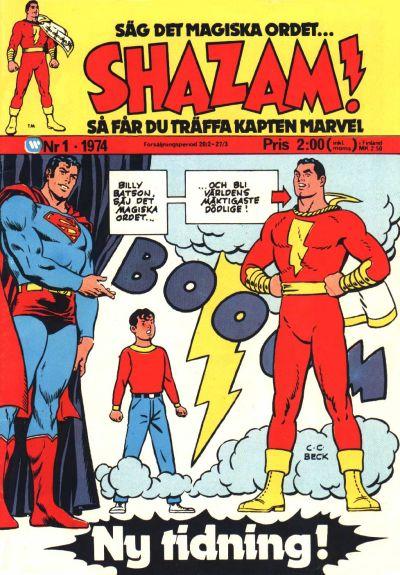 Cover for Shazam! (Williams Förlags AB, 1974 series) #1/1974
