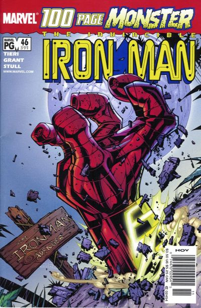 Cover for Iron Man (Marvel, 1998 series) #46 (391)