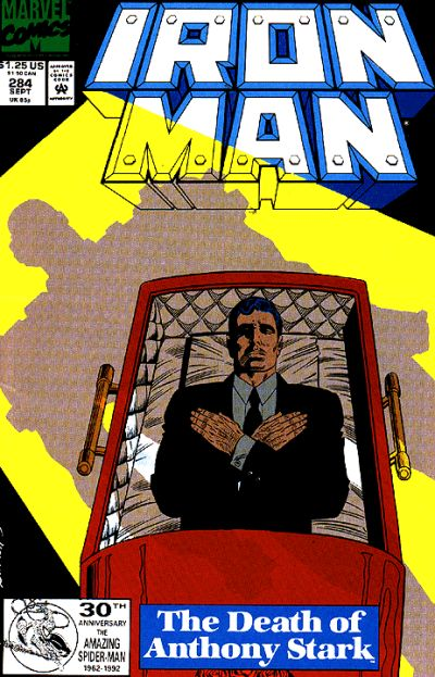 Cover for Iron Man (Marvel, 1968 series) #284 [Newsstand]