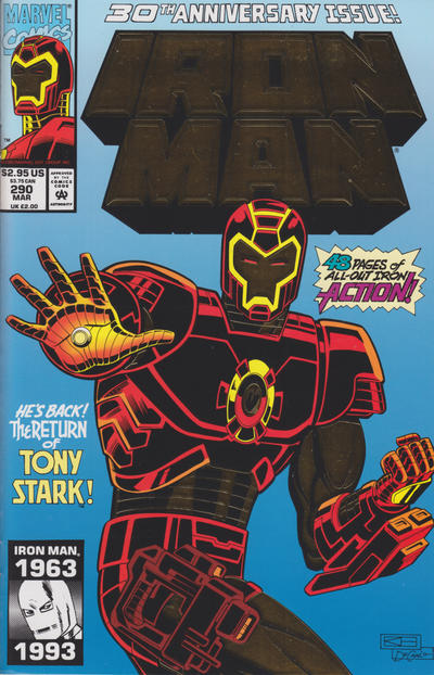Cover for Iron Man (Marvel, 1968 series) #290