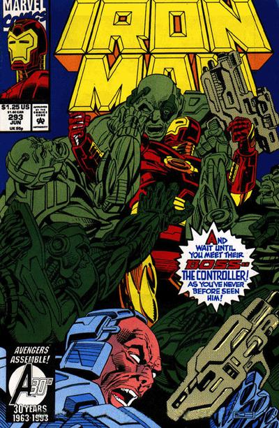 Cover for Iron Man (Marvel, 1968 series) #293