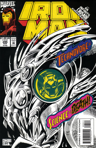 Cover for Iron Man (Marvel, 1968 series) #295