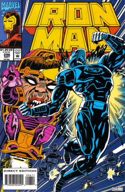 Cover for Iron Man (Marvel, 1968 series) #296