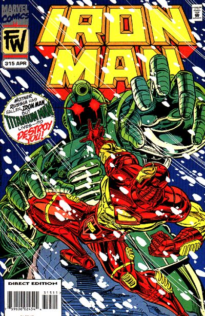 Cover for Iron Man (Marvel, 1968 series) #315