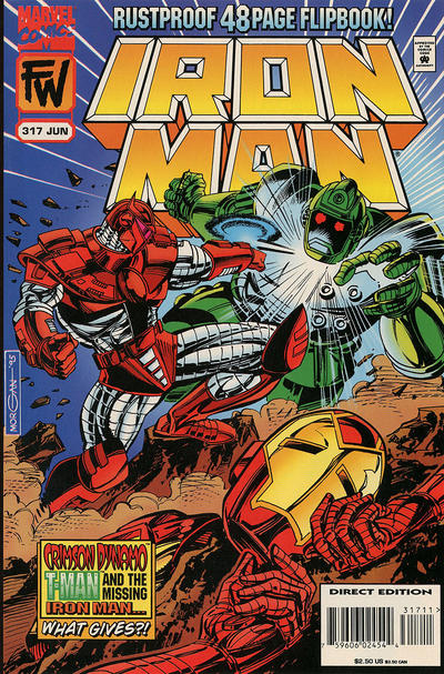 Cover for Iron Man (Marvel, 1968 series) #317