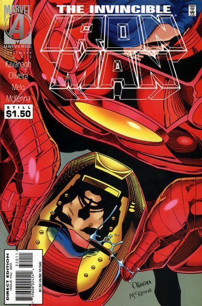 Cover for Iron Man (Marvel, 1968 series) #320 [Direct Edition]