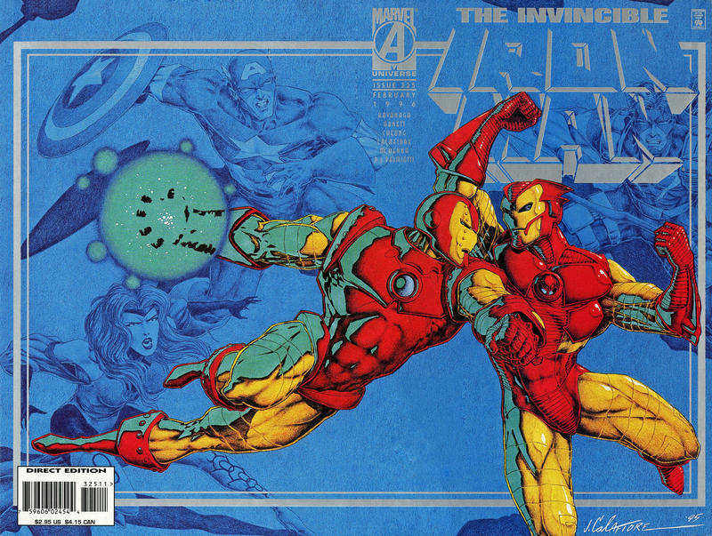 Cover for Iron Man (Marvel, 1968 series) #325 [Direct Edition]