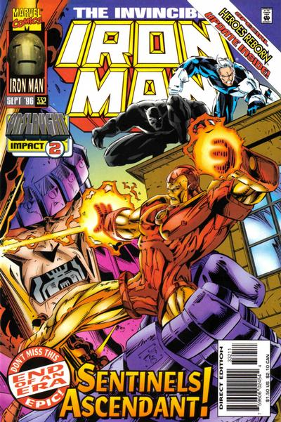 Cover for Iron Man (Marvel, 1968 series) #332