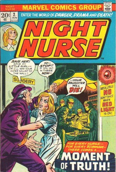 Cover for Night Nurse (Marvel, 1972 series) #2