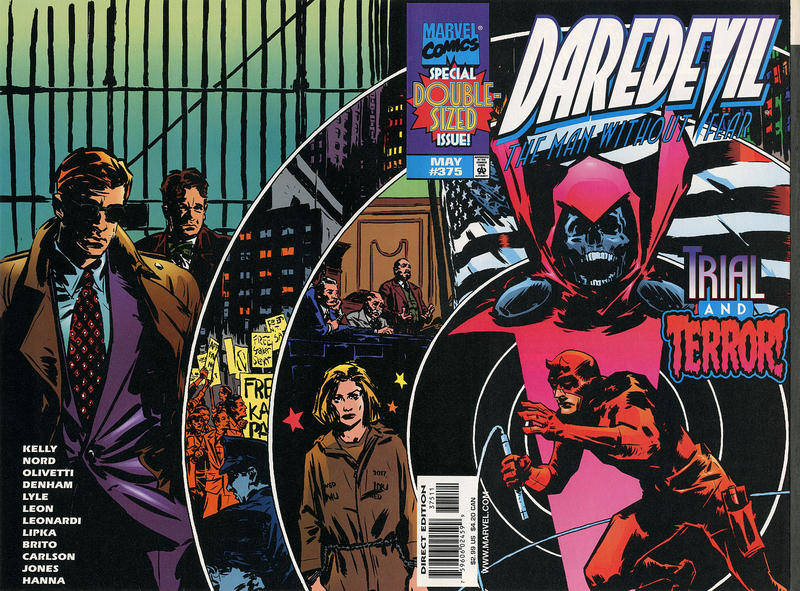Cover for Daredevil (Marvel, 1964 series) #375 [Direct Edition]
