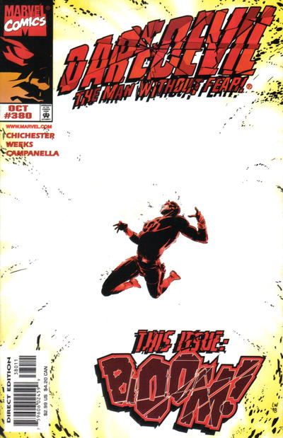 Cover for Daredevil (Marvel, 1964 series) #380 [Direct Edition]