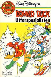 Cover Thumbnail for Donald Pocket (Hjemmet / Egmont, 1968 series) #134 - Donald Duck utforspesialisten [1. opplag]