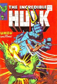 Cover Thumbnail for The Incredible Hulk (Yaffa / Page, 1981 ? series) #5