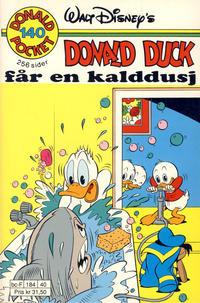 Cover Thumbnail for Donald Pocket (Hjemmet / Egmont, 1968 series) #140 - Donald Duck får en kalddusj [1. opplag]