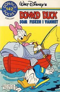 Cover Thumbnail for Donald Pocket (Hjemmet / Egmont, 1968 series) #142 - Som fisken i vannet [1. opplag]