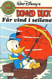 Cover Thumbnail for Donald Pocket (Hjemmet / Egmont, 1968 series) #143 - Donald Duck får vind i seilene [Reutsendelse]