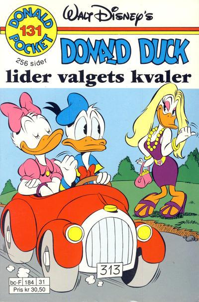 Cover for Donald Pocket (Hjemmet / Egmont, 1968 series) #131 - Valgets kvaler [2. utgave bc 239 05]