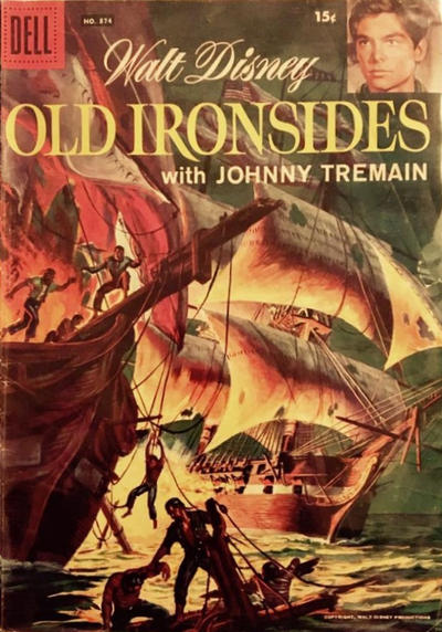 Cover for Four Color (Dell, 1942 series) #874 - Walt Disney's Old Ironsides
