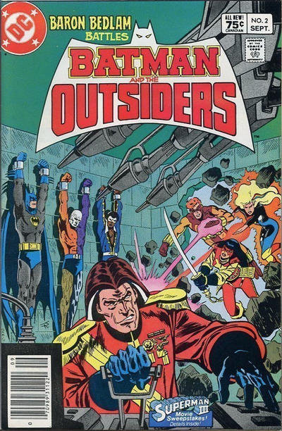 Cover for Batman and the Outsiders (DC, 1983 series) #2 [Direct Edition]