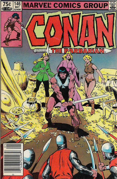 Cover for Conan the Barbarian (Marvel, 1970 series) #146 [Newsstand Edition]