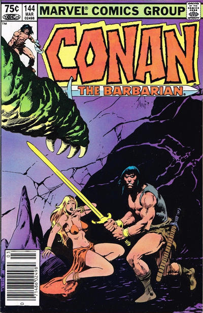 Cover for Conan the Barbarian (Marvel, 1970 series) #144 [Newsstand Edition]
