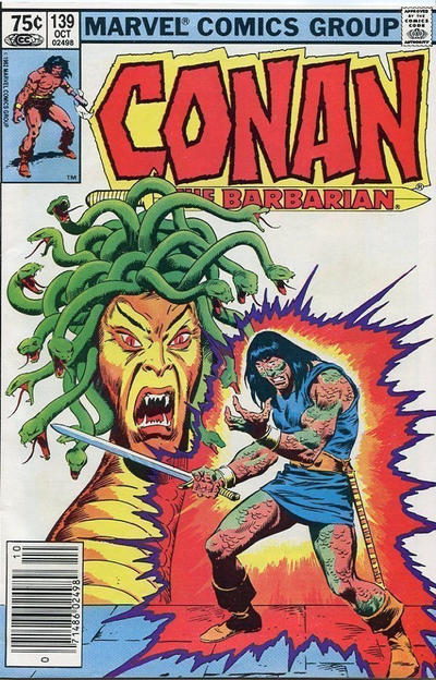 Cover for Conan the Barbarian (Marvel, 1970 series) #139 [Newsstand Edition]