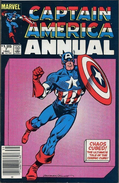 Cover for Captain America Annual (Marvel, 1971 series) #7 [Direct Edition]