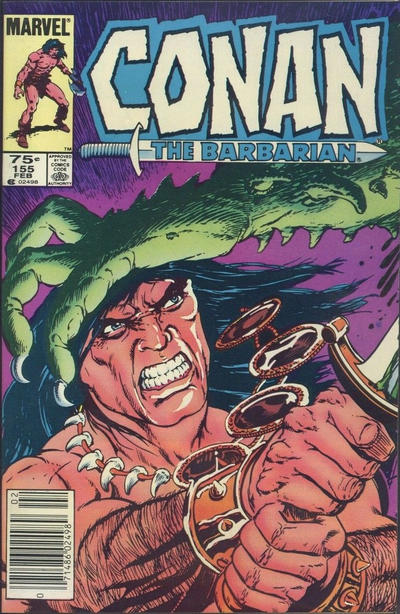 Cover for Conan the Barbarian (Marvel, 1970 series) #155 [Direct Edition]