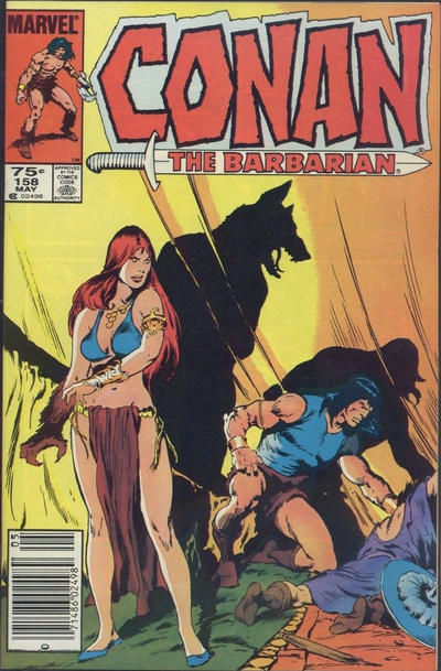 Cover for Conan the Barbarian (Marvel, 1970 series) #158 [Direct Edition]