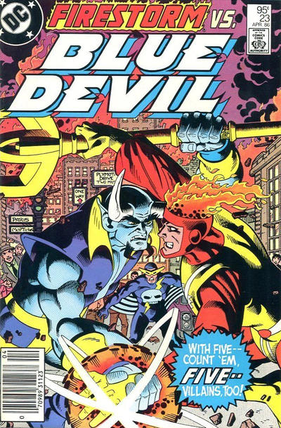 Cover for Blue Devil (DC, 1984 series) #23 [Direct Edition]