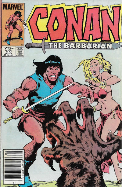 Cover for Conan the Barbarian (Marvel, 1970 series) #161 [Newsstand Edition]