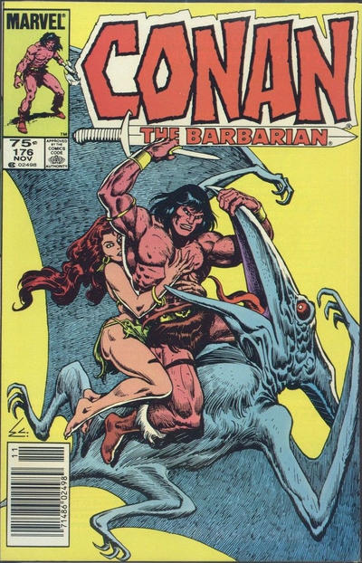 Cover for Conan the Barbarian (Marvel, 1970 series) #176 [Direct Edition]