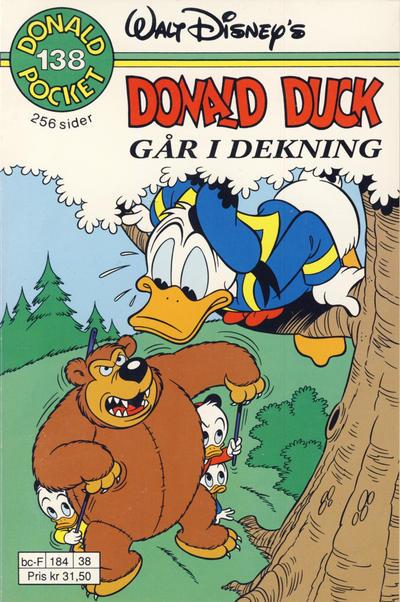 Cover for Donald Pocket (Hjemmet / Egmont, 1968 series) #138 - I dekning [3. utgave bc 277 62]