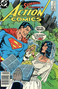 Cover for Action Comics (DC, 1938 series) #567 [Newsstand Edition]