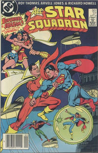 Cover for All-Star Squadron (DC, 1981 series) #37 [Newsstand]