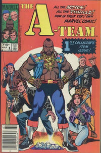 Cover for The A-Team (Marvel, 1984 series) #1 [Newsstand Edition]