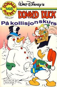 Cover Thumbnail for Donald Pocket (Hjemmet / Egmont, 1968 series) #148 - Donald Duck på kollisjonskurs [1. opplag]