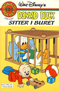 Cover Thumbnail for Donald Pocket (Hjemmet / Egmont, 1968 series) #151 - Donald Duck sitter i buret [1. opplag]