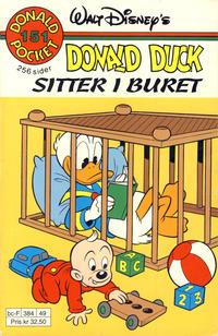 Cover Thumbnail for Donald Pocket (Hjemmet / Egmont, 1968 series) #151 - Donald Duck sitter i buret [Reutsendelse]